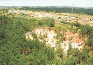 Incisão erosiva próxima à estação de Camboatá/Buracica.